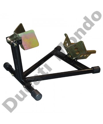 Motorcycle front wheel race chock paddock stand - ideal trailer
