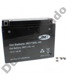 JMT YB16ALA2 High Performance Gel Motorcycle Battery YB16AL-A2 for Ducati JMB16AL-A2 replacement spare electrical service part  EAN number: 4043981191219 Part number: 7070084