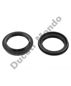 All Balls Racing fork dust seals 43mm Showa for Ducati 748 749 916 996 998 999 Monster 600 750 900 S2R S4R 1000 Multistrada ST3 ST4 Supersport