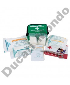 Travel first aid kit mini motorcycle pack with bandages, plasters, surgical tape, Bike It AIDKIT14 essential DIN13167 regulations