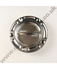 Billet alloy quick release fuel tank filler cap Most Ducati Supersport, Superbike & Monster