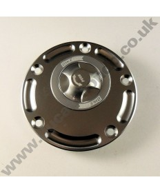 Billet alloy 1/4 turn quick release fuel tank filler cap Most Ducati Supersport, Superbike & Monster