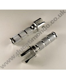 Billet alloy pillion foot rests / pegs for Ducati - PAIR v750SS 851 888 907ie 900SS Superlight