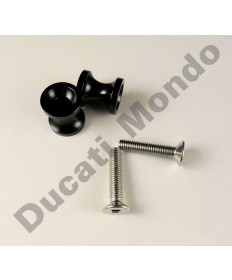Billet alloy paddock stand bobbin spools M6 in black PDSBOB6BK