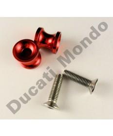 Billet alloy paddock stand bobbin spools M10 - Red