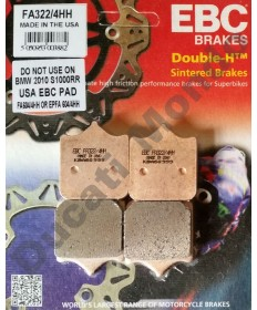 EBC HH Sintered Front brake pads for Ducati Aprilia MV Agusta Cagiva 4 pad calipers - FA322/4HH