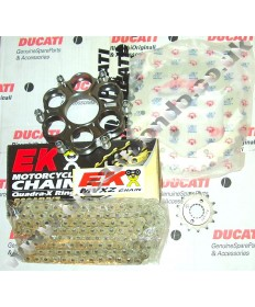 Ducati Streetfighter 1098 Chain & Sprocket kit & EK MVXZ chain