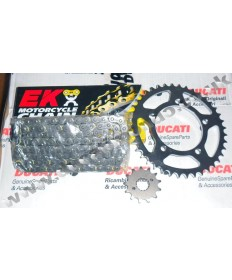 Ducati 749 / 999 Chain & Sprocket kit with EK SRO O ring chain 03-07