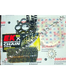 Ducati  Hypermotard 821 & Hyperstrada 821 inc SP Chain & Sprocket kit & EK O ring chain 13-14