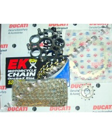 Ducati Hypermotard 796 Chain & Sprocket kit with EK X ring chain