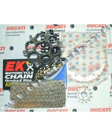Ducati 1198 Chain & Sprocket kit with EK SRX series X ring chain