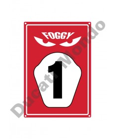 Official Carl Fogarty Foggy Licensed Merchandise Parking Sign FOGSIG17