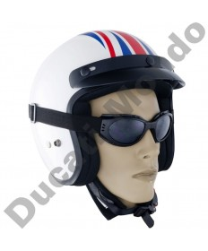 Bike It Matrix Black Framed Motorcycle Scooter Goggles With Smoked Lens GOGROD19