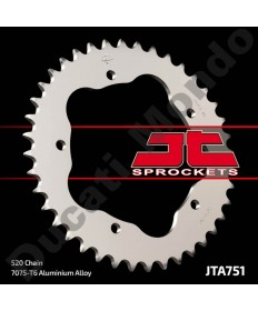 JT Sprockets 43 tooth 520 pitch alloy rear sprocket for Ducati 748 Monster S2R 800 520 conversion for 848 916 996 998 JTA751.43