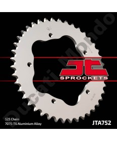 JT Sprockets 40 tooth alloy rear sprocket for Ducati 848 916 996 998 Monster 796 821 939 1100 Hypermotard 1100 Multistrada 525 pitch JTA752.40