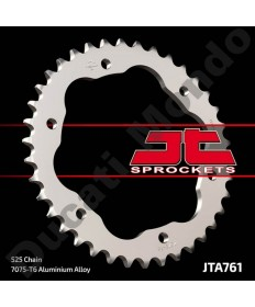 JT 38 tooth alloy rear sprocket for Ducati, 525 pitch 1098 1198 1199 1299 Panigale Monster 1200 Streetfighter Diavel JTA761.38