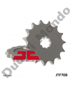 JT front Sprocket 14 tooth Cagiva Mito Prima 50 & 80 Super City JTF708.14 replacement spare service part EAN number: 824225205534 Part number: JTF708.14