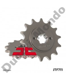 JT front Sprocket 14 tooth Cagiva Mito 125 Mk1 Mk2 Evo 1 & 2 SP525 SC Raptor Planet Freccia N90 JTF711.14 replacement spare service part EAN number: 824225205572 Part number: JTF711.14