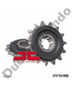 JT Sprockets 525 pitch 15 tooth rubber cushioned front sprocket for Ducati 749 848 998 999 1098 1198 Streetfighter Monster S4R Hypermotard Multistrada Diavel JTF741.15RB