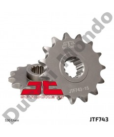 JT steel front sprocket 15 tooth 530 pitch Ducati Multistrada 1200 & 1260 all models 10-19 JTF743.15