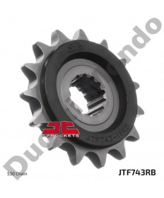JT steel silent front sprocket 15 tooth 530 pitch Ducati Multistrada 1200 & 1260 all models 10-19 JTF743.15RB Rubber Backed