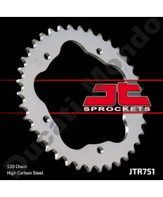 JT Sprockets 38 tooth 520 pitch steel rear sprocket for Ducati 748 Monster S2R 800 520 conversion for 848 916 996 998 JTR751.38 replacement spare part EAN number: 824225313321