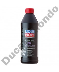 Fork Oil Liqui Moly 7.5W Light Medium 1 Litre Fully Synthetic Shock Absorber LQM2719 replacement spare service fluid EAN number: 4100420027192