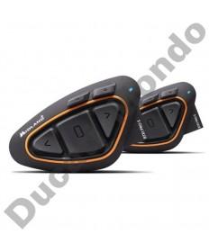 Midland BTX1 Pro Hi-Fi motorcycle helmet intercom headset with Bluetooth Twin Pack