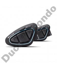 Midland BTX2 Pro Hi-Fi Special Edition motorcycle helmet intercom headset with Bluetooth twin Pack