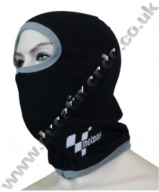 MotoGP Official licensed 100% cotton thermal balaclava featuring emboidered logo motorcycle head neck scarf warmer MGPBALBK