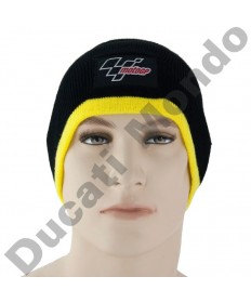 MotoGP Official licensed cool thermal beanie hat in black and yellow trim MGPHAT14