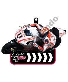 Brand NEW MotoGP #11 Ben Spies Pramac Ignite Ducati Team rubber key ring