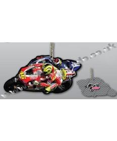 MotoGP #46 Valentino Rossi Ducati Corse Team rubber key ring