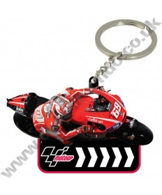Brand NEW MotoGP #69 Nicky Hayden Ducati Corse Team rubber key ring