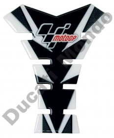 MotoGP universal fuel tank pad in black/grey & Carbon
