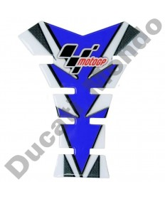 MotoGP universal fuel tank pad in blue & Carbon