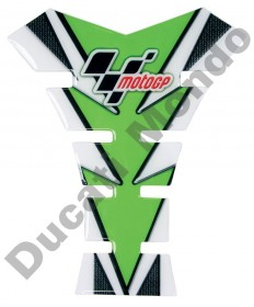 MotoGP universal fuel tank pad in green & Carbon