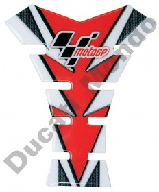 MotoGP universal fuel tank pad in red & Carbon