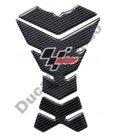 MotoGP universal 3 piece fuel tank pad in Carbon Fibre look with logo MGPTNK20