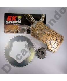 Ducati 996 Chain & Sprocket kit with extra heavy duty Gold EK MVXZ series X ring chain 99-02 except 996R