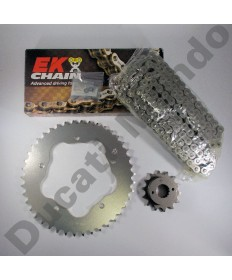 Ducati 996 Chain & Sprocket kit with EK SRO series O ring chain 99-02 except 996R