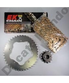 Ducati 748 Chain & Sprocket kit with Gold EK MVXZ series X ring chain 94-04