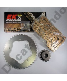 Ducati 996 Chain & Sprocket kit with Gold EK SRX series X ring chain 99-02 except 996R