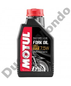 Fork Oil Motul Factory Line ester based synthetic Light / Medium 7.5W - 1 Litre 105926 replacement spare service fluid EAN number: 3374650008363