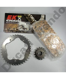 Ducati 916 Chain & Sprocket kit with extra heavy duty Gold EK MVXZ series X ring chain 94-98