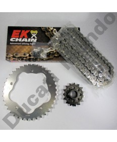 Ducati 996R and 998 Chain & Sprocket kit with EK SRO series O ring chain 01-04