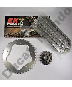 Ducati 848 Chain & Sprocket kit with EK SRO series O ring chain 08-13