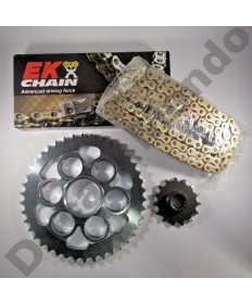 Ducati Multistrada 1200 Chain & Sprocket kit with extra heavy duty Gold EK MVXZ series X ring chain 10-17 all models except Enduro