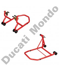Ducati front and single sided rear paddock stand set - 42mm version for early Ducati 1098 upto May 2007