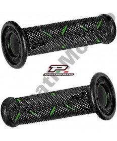 Progrip Gel Touch Dual Compound GP Grips Used By Althea Ducati Black & Green PG717Green